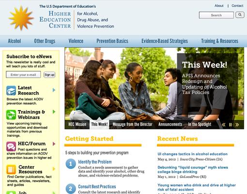 HEC homepage desktop version