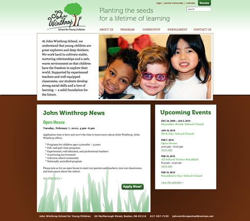 John Winthrop School home page